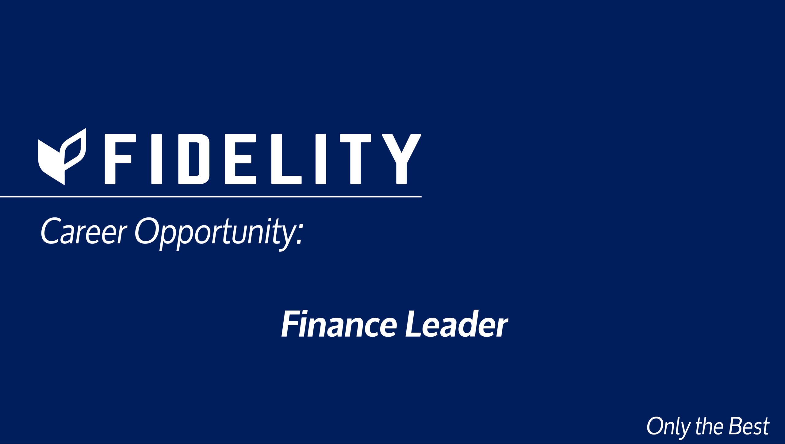 Career Opportunity: Finance Leader