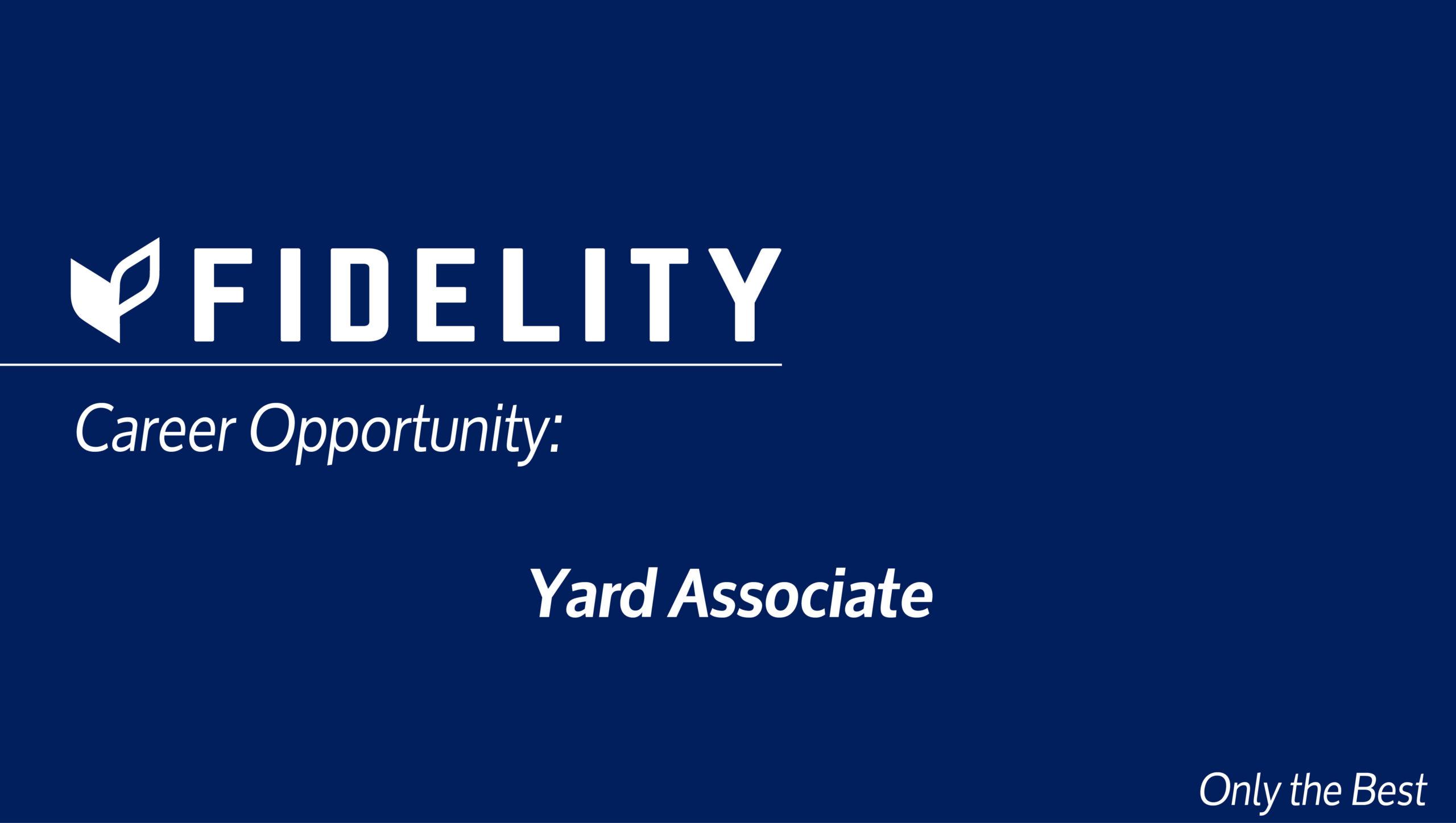 Career Opportunity: Yard Associate